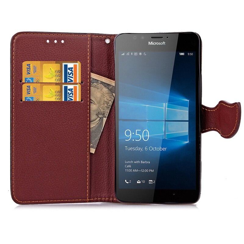 Премиум чехол для <font><b>Microsoft</b></font> Lumia <font><b>950</b></font> чехол, флип кожаный чехол для телефона Nokia Lumia <font><b>950</b></font> Бумажник крышка с карты сольц