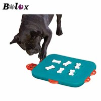 BPLUX Dog Toys Cat Leaky Feeder Dog Toy For Medium Dogs Cats Portable Interactive Square Shape Pet Toys Kitten Animals Products
