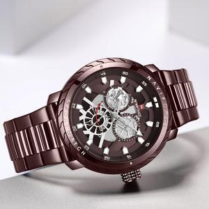 Image 4 - NAVIFORCE homme montre 2019 Top luxe marque nouvelle mode qualité en acier inoxydable militaire Sports hommes montres étanche bracelet