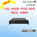 YUNCH NEW 16CH POE NVR 1080P 1.5U 4HDD 16CH 1080P For 1080P POE IP Camera Video Recorder