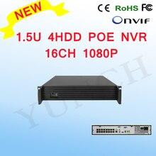 YUNCH NOUVEAU 16CH POE NVR 1080 P 1.5U 4HDD 16CH 1080 P Pour 1080 P POE IP Caméra Vidéo Enregistreur