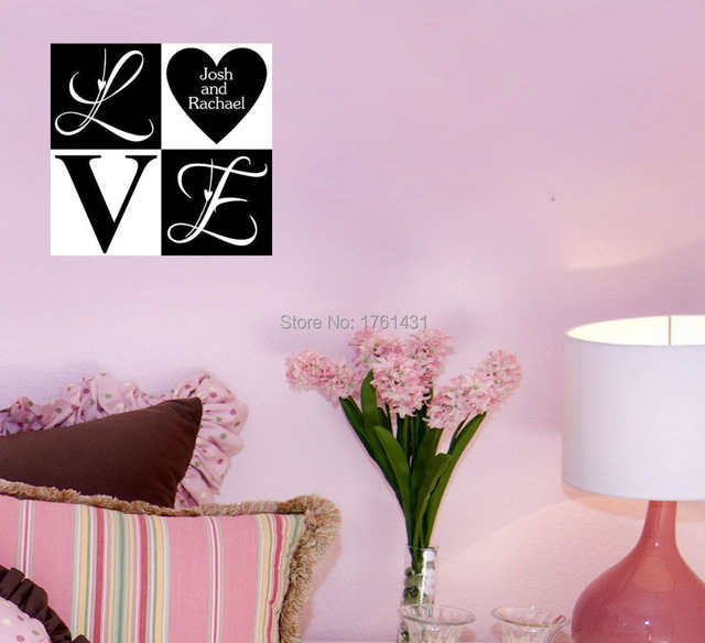 Personalized Love Names Cute Decor home decoration wall art living ...