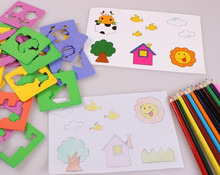 New wooden Drawing toy set baby educational toy baby gift  Free shipping