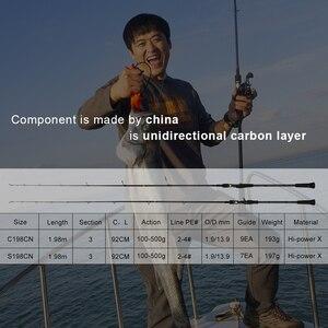 Image 2 - Obei Master Boot Langzaam Jigging Hengel 100 500G Reizen Spinning Casting Lokken Staaf 30 80IB Vissen Lokken Hengel