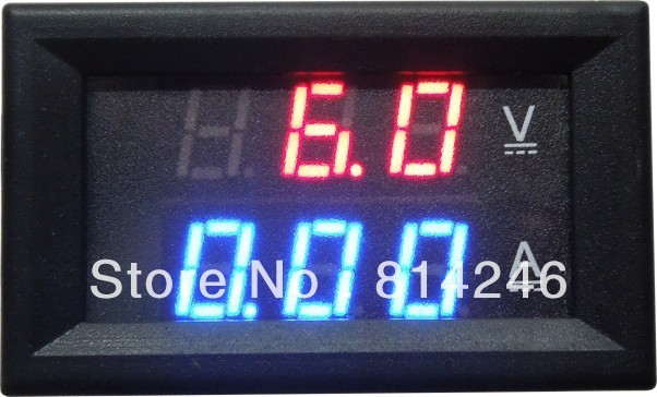 Free  shipping ,  4.5-30V  100A voltage and current VA DC combo dual display LED digital car voltmeter  Contains shunt