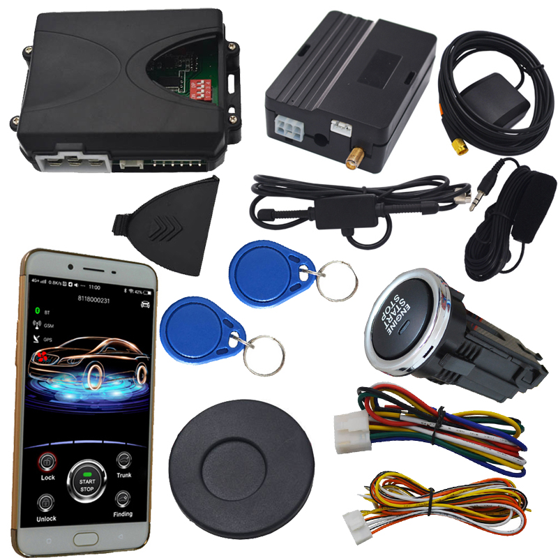 RFID immobilizer car alarm remote replacement working with car keyless entry mobile app start stop engine remote start stop car easyguard pke car alarm system remote engine start stop shock sensor push button start stop window rise up automatically