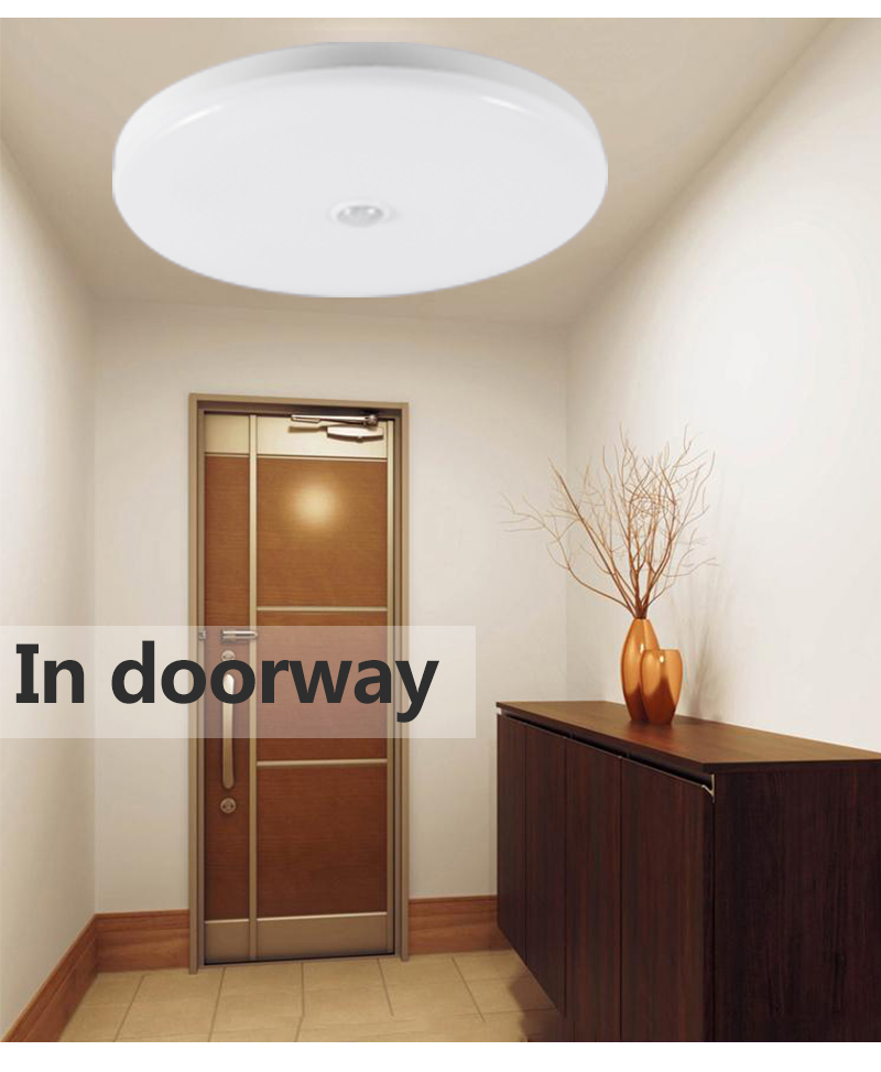 HTB1gQObao rK1Rjy0Fcq6zEvVXac Smart PIR Motion Sensor LED Ceiling Lights 12W 18W 220V Led Ceiling Lamp Light for Home Hallway Stairway Garage Porch Laundry