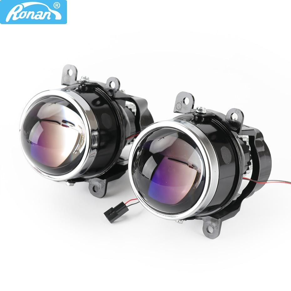 RONAN 3.0inch G2 Type Bi Xenon Fog Light Waterproof Projector Lens D2S D2H H11 Lamps For Universal Car Retrofit