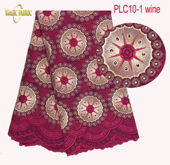 African swiss voile lace high quality ,wedding lace African Fabric 5 Yards 100% Cotton Swiss Voile Lace    PLC10