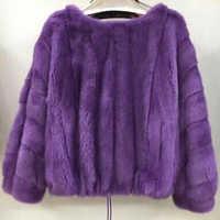 Women real mink fur coat autumn and winter short popular natural mink fur jacket female