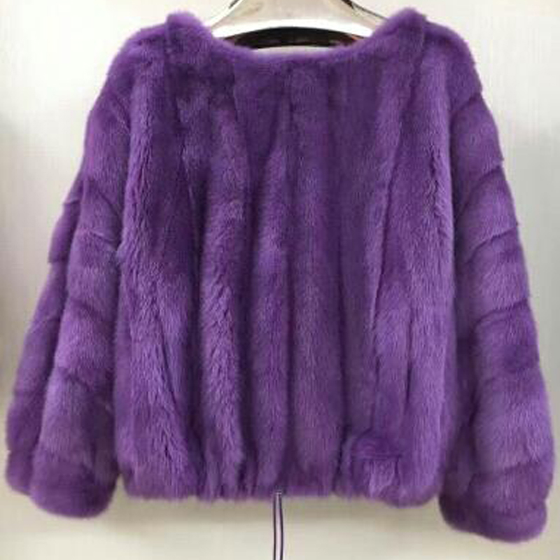Women real mink fur pullover autumn and winter short popular coat natural mink fur jacket female outerwear