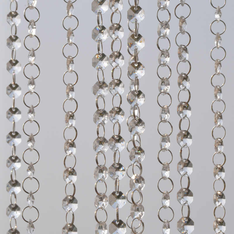1m Garland Strand Hanging Crystal Glass Bead Curtain Diamond Chains Party Tree Centerpiece DIY Party Decor