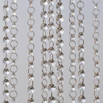 1m sznur girlandy wiszący kryształowy szklany kurtyna koralikowa diamentowe łańcuszki Party Tree Centerpiece DIY Party Decor tanie i dobre opinie Kryształowy żyrandol 14mm 10cm ME01
