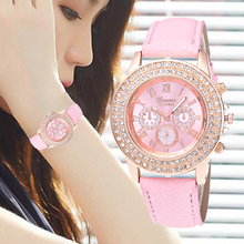 Diamond Leisure Luxury Women Watches Leather Strap Band Fashion Quartz Relogio Feminino WristWatch Clock Montre Femme brand julius women watches ultra thin leather strap watch band analog display quartz wristwatch luxury watches relogio feminino