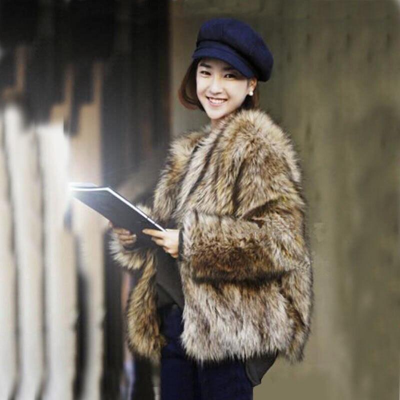 Best selling! 2018 winter new fashion women faux fur coat