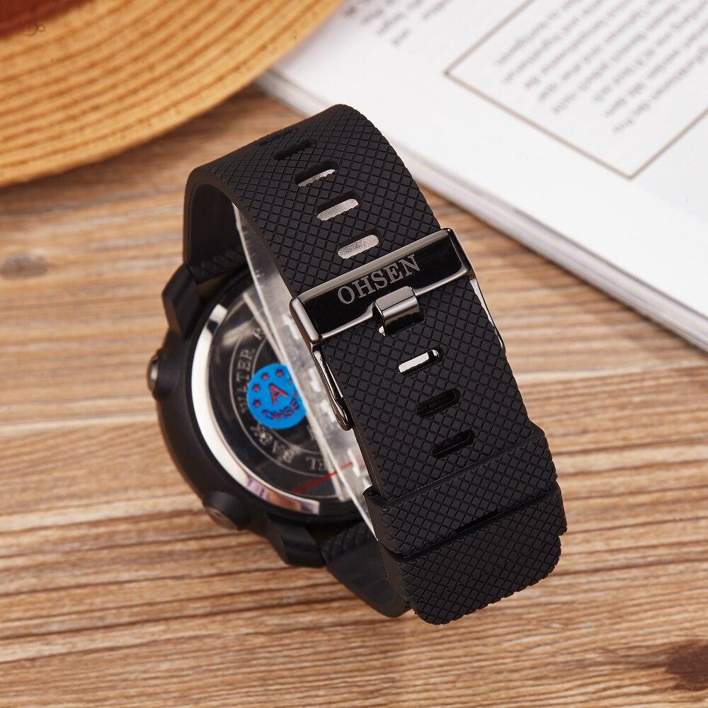 OHSEN Moda Wodoodporny Stoper Army LED Cyfrowy zegarek Człowiek - Męskie zegarki - Zdjęcie 4