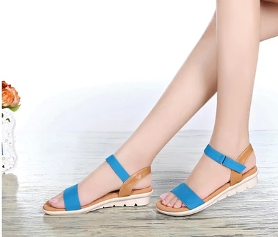 49dadda45f9b elegant leather summer sandals women beach shoes lace-up female insoles  casual flats mother slippers maternity walking footwear