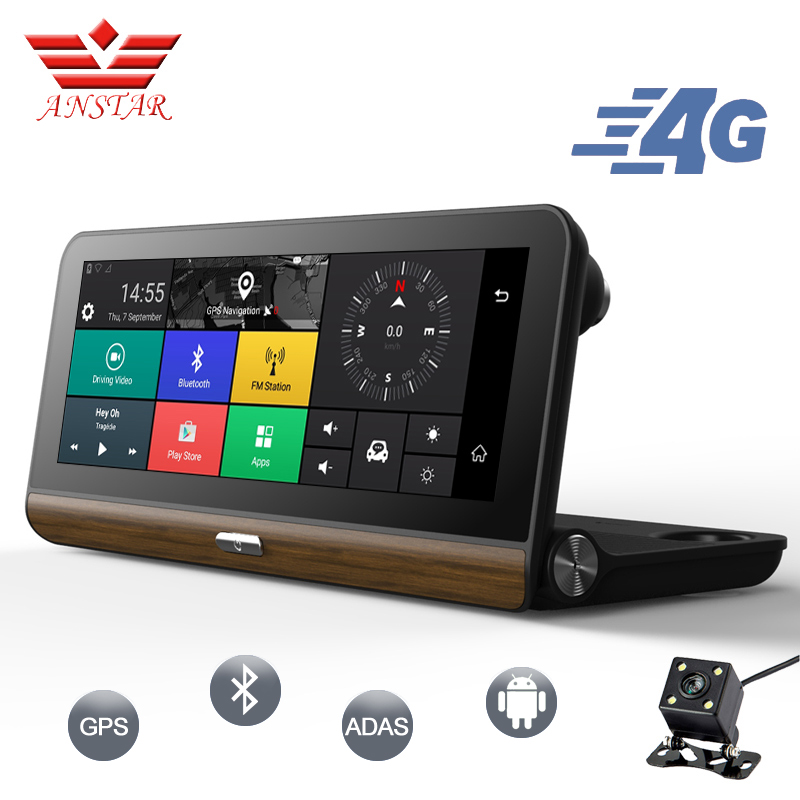 ANSTAR 3G/4G Car DVR GPS Camera 7.84Android Dash Cam Full HD 1080p Video recorder Wifi Bluetooth Registrator Dual lens Dvrs Cam