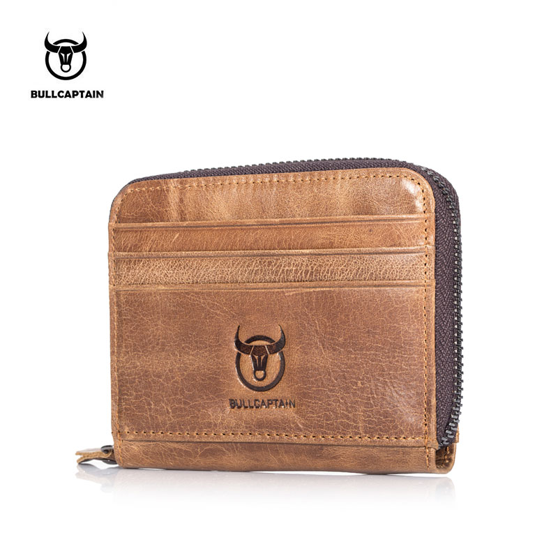 BULLCAPTAIN men Wallet Business Card Holder cardholder leather cow ...