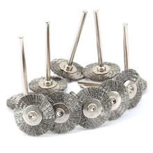 10pcs Steel Wire Wheel Brush dremel tools accessories rotary tool wire disc for mini drill tools electric burr deburring