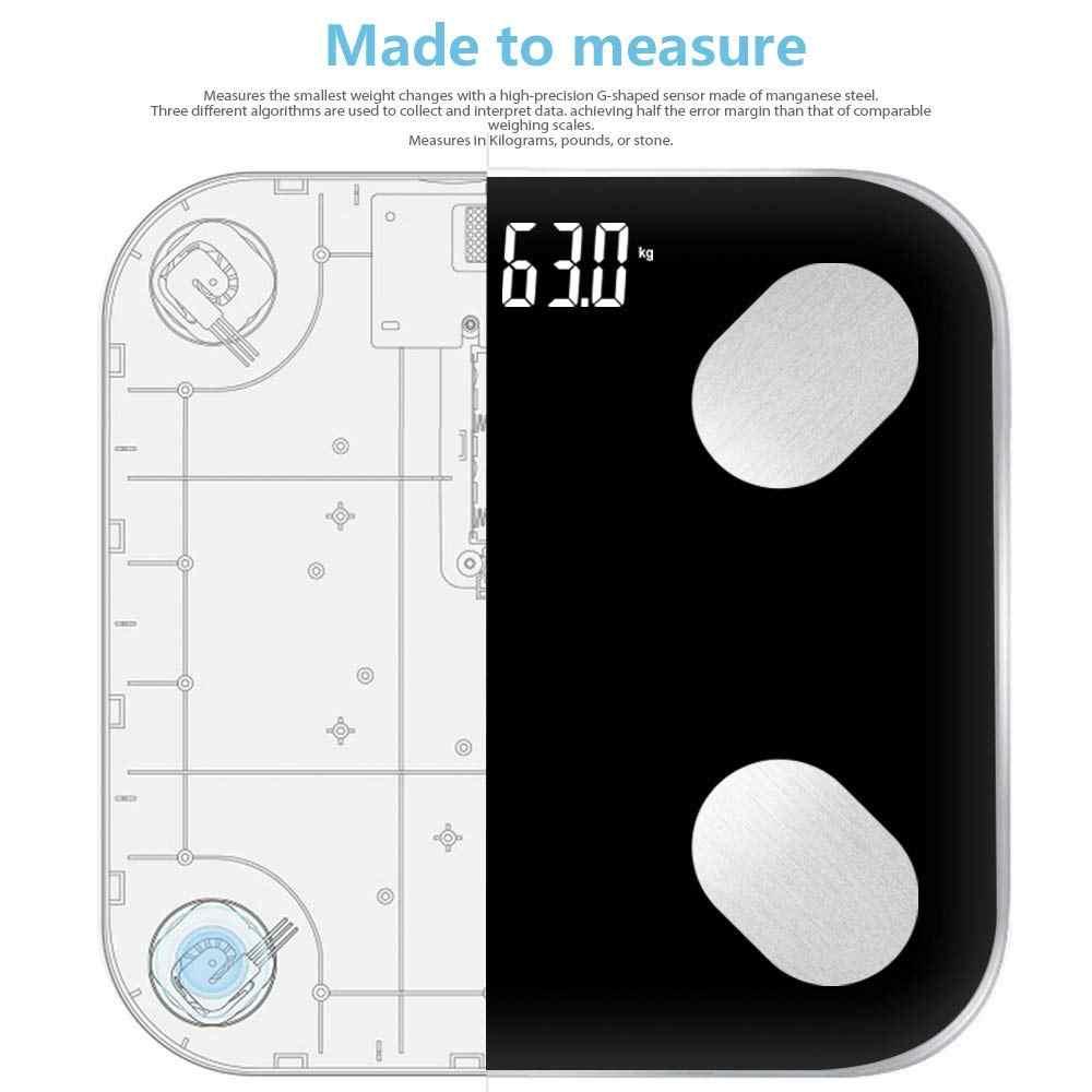 مقياس الدهون في الجسم الطابق العلمية الذكية الإلكترونية LED الوزن الرقمي ميزان الحمام التوازن بلوتوث التطبيق أندرويد IOS