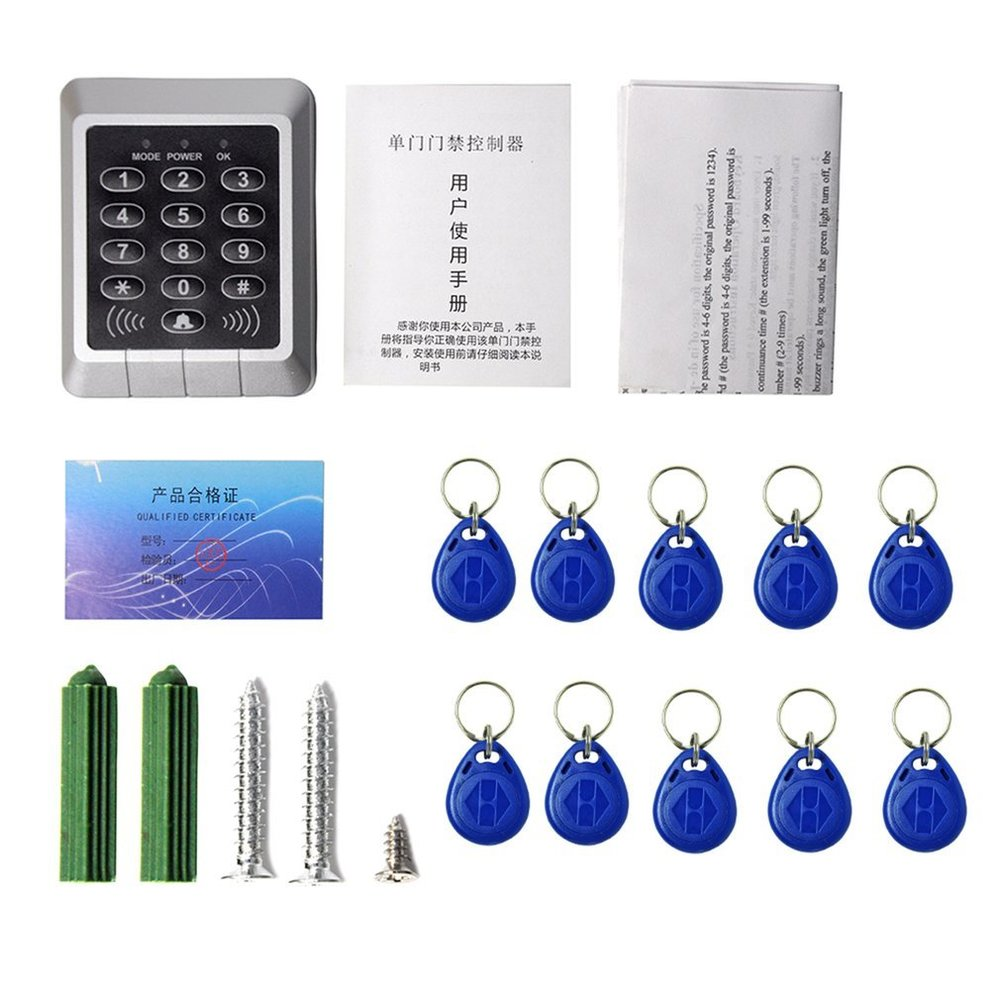 Home Security Single RFID Card Proximity Entry Door Lock Access Control Kits System 1000 Users With 10pcs RFID Keys Key Fob access control card reader rfid 1000 users security proximity entry system door lock quality electronic entry door lock winte