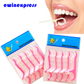 5pcs Teeth Clean Care Floss Thread Dental Flossers Plastic Brush Tooth Picks