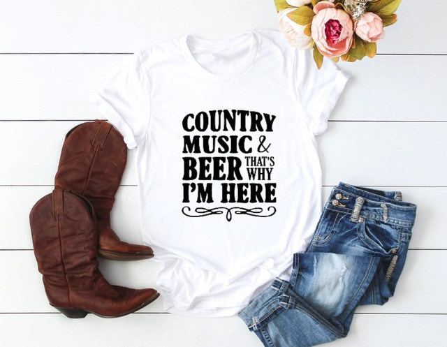Country Music And Beer Graphic T-Shirt