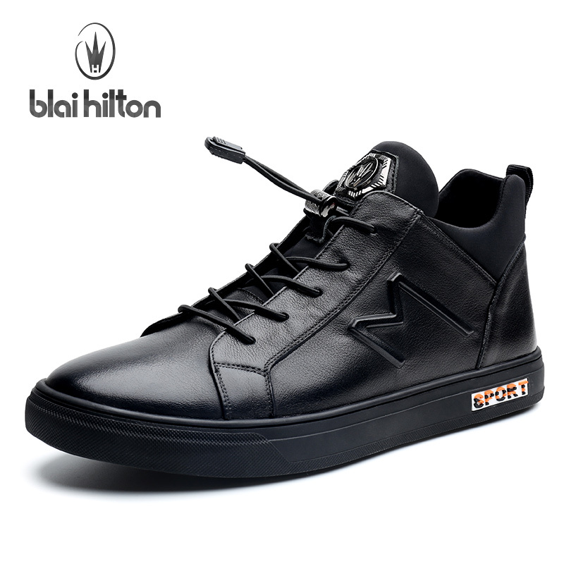 Blai Hilton 2017 New Fashion Spring/Autumn men shoes Genuine Leather shoes Breathable/Comfortable Men's Casual Shoes micro micro 2017 men casual shoes comfortable spring fashion breathable white shoes swallow pattern microfiber shoe yj a081
