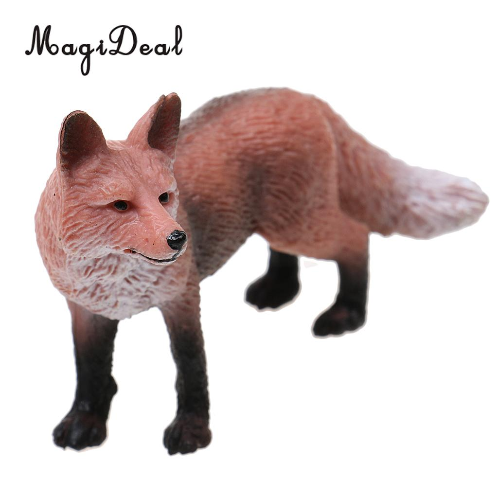 MagiDeal Realistic Red   Wildlife Zoo Animal Figurine Model Action Figure for Kids Toy Gift Home office Desk Club Decoration figurine