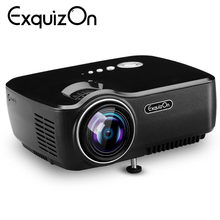 Exquizon GP70 LCD 800*480 Projector (Optional Android 4.4 Bluetooth WIFI )HD 1080P 1800 lumens HDMI/VGA/USB Multimedia Player(China)