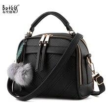 BRIGGS moda kaliteli deri kadın en saplı çanta küçük kadınlar Crossbody çanta sevimli omuz askılı çanta bayanlar için el çantaları