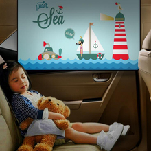 Car Children Sunshade Sunscreen Insulation Sun Magnetic Rear Side Window Windshield Cute Cartoon Decoration
