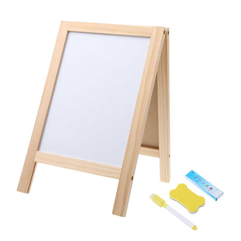 Wooden Tripod Blackboard Small Double