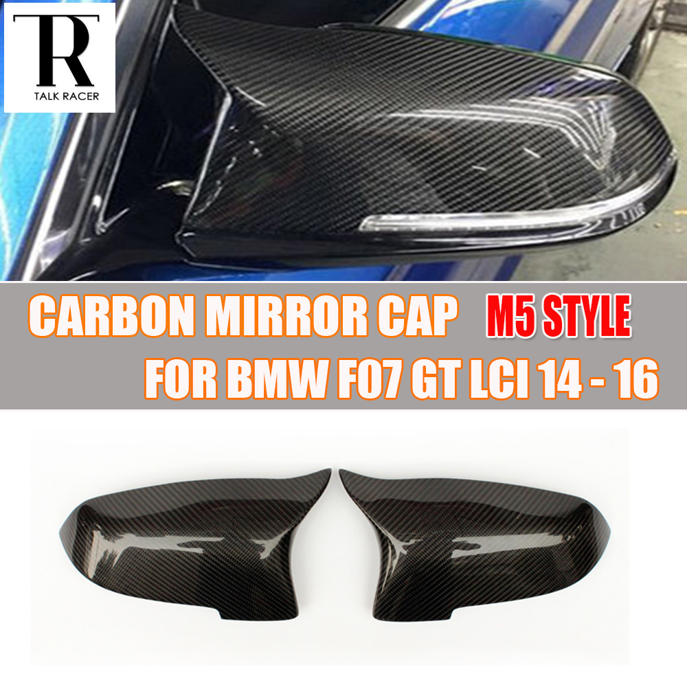 M5 Style F07 Carbon Fiber Front Side Mirror Cover Cap for BMW F07 GT 535i 550i 530d 535d LCI 2014 2014 2016 new unfinished electric guitar body with sticking tiger stripes not painted free shipping foam box