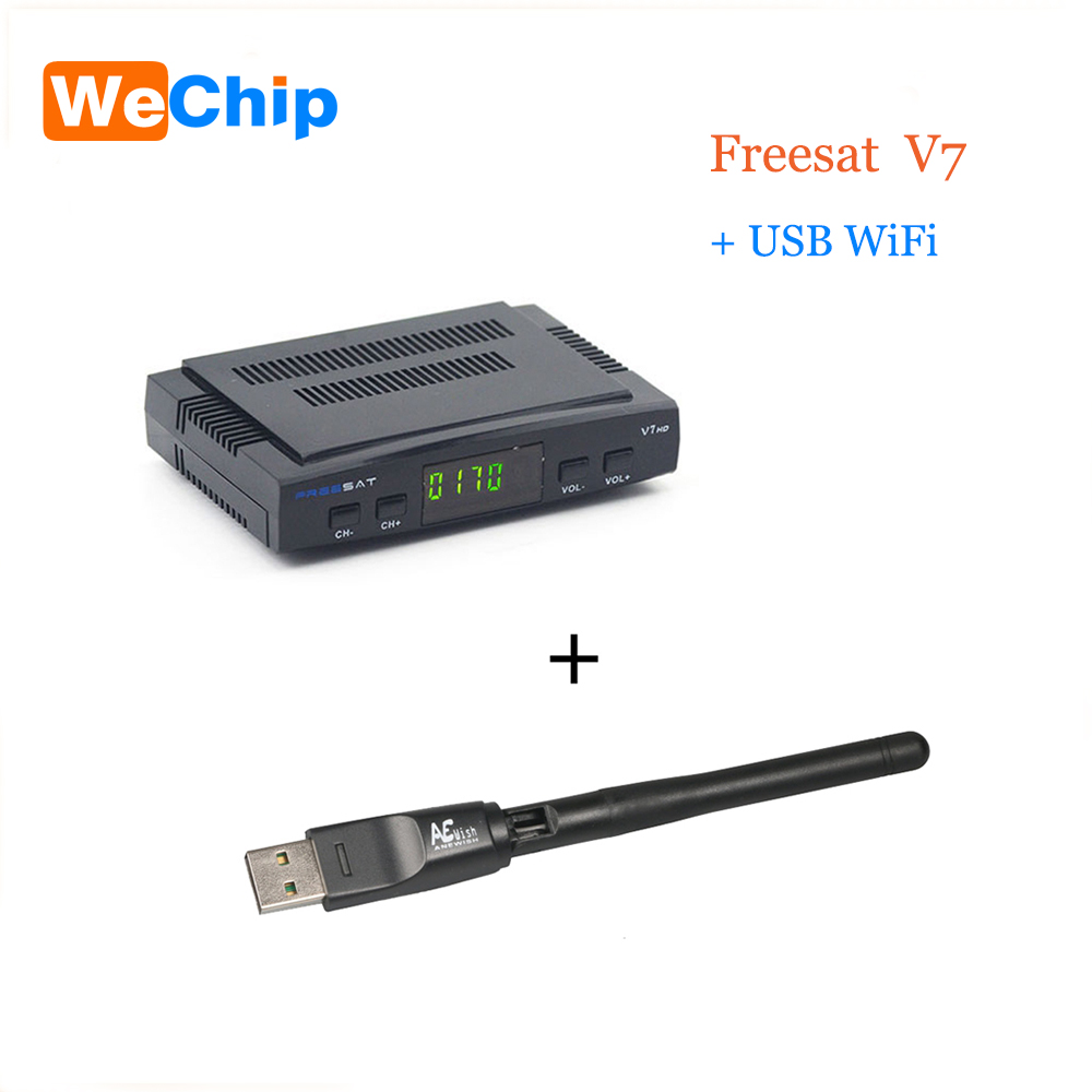 WeChip Freesat V7 With USB WIFI DVB S2 HD Digital font b tv b font satellite