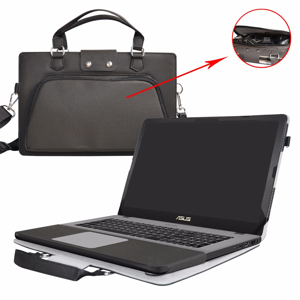 Accurately Designed PU Leather Protective Cover + Portable Carrying Bag For 17.3