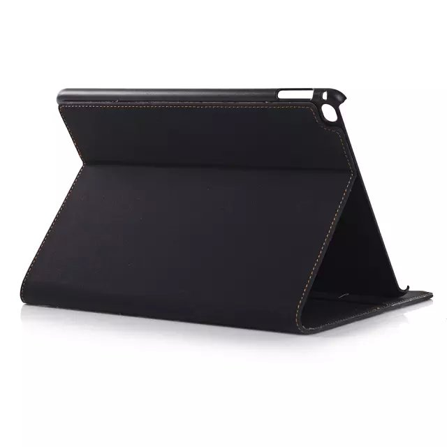HOT For iPad 6 iPad air 2 Case Luxury Leather Skin Smart Cover Stand Holder Card Slot Handbag Bag Fashion Business case+pen+film