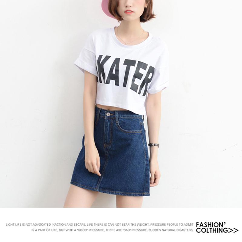 Lucyever Fashion Korean Summer Women Denim Skirt High Waist Black Mini Skirts Package Hip Blue Jeans Harajuku Plus Size Cotton 13