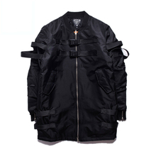 High Street Black Men Jackts Asian Size M-XL Fashion Ma1 Bomber Jacket Man Latest Design Thick Kpop Band Homme Overcoats(China)