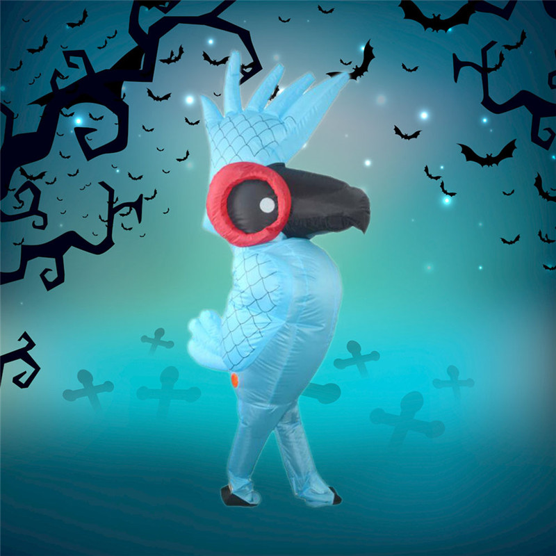 Inflatable Costume Adult Kids Parrot Shape Funny Props Toy Halloween Party Prank Scenario Prop for Children Novelty Gags Toys