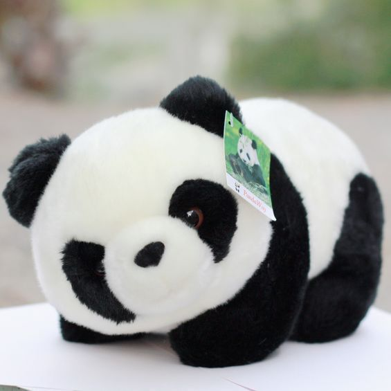 Free Shipping Plush toy gift doll pandaway giant panda doll tendrils 16cm size