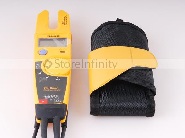 FLUKE T5-1000 1000 Voltage Continuity Current Electrical Digital Clamp Meter Tester with a soft carried мультиметр fluke t5 1000