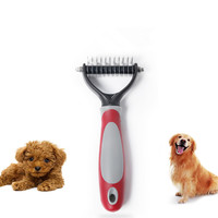Dematting Dog Pet Grooming Comb With 2 Sided Professional Grooming Rake Brush
