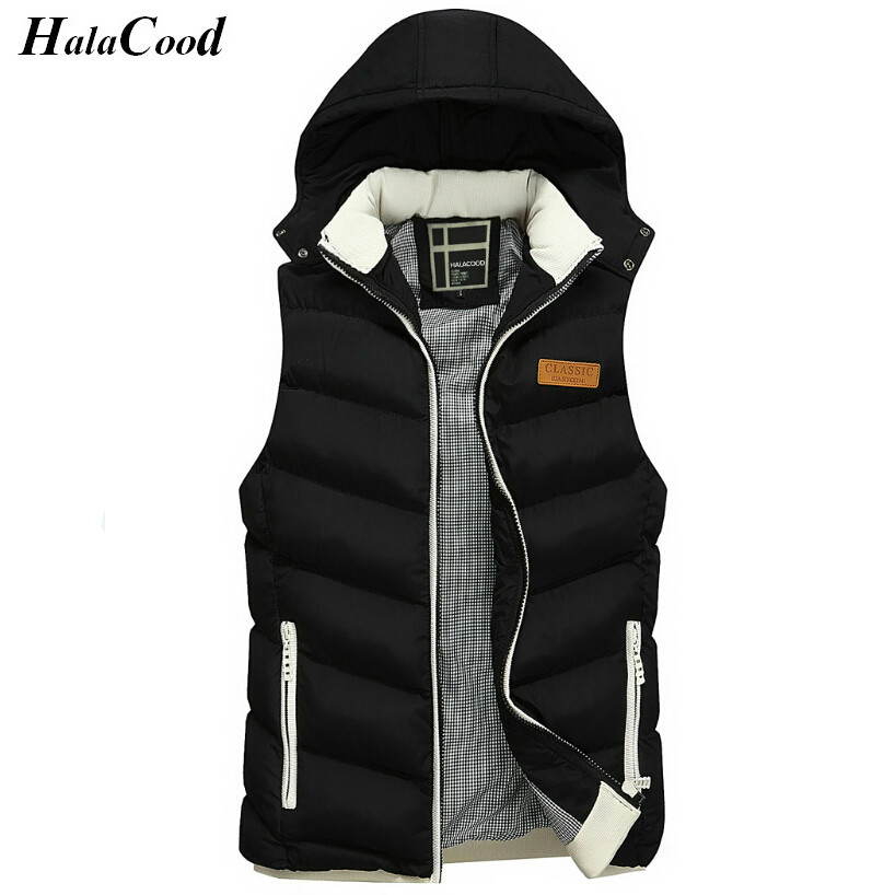 Hot Sell New Fashion Men s Vest Winter Men Brand Hooded Vest Male Fashion Cotton Padded