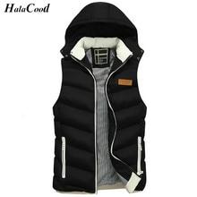 Лидер продаж Новая мода Для мужчин жилет зима Для мужчин бренд с капюшоном жилет мужской моды хлопок-мягкий жилет куртки и пальто теплый жилет xxxl