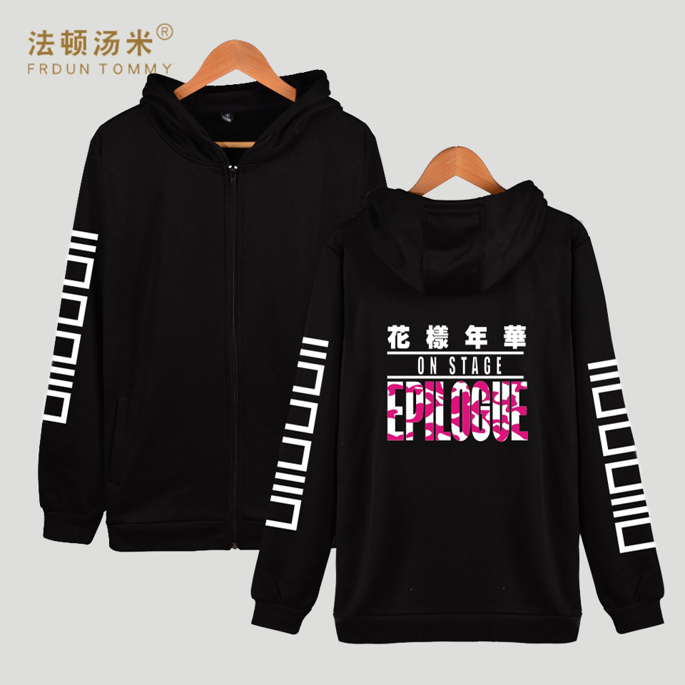 Frdun Tommy Bangtan Kpop Hooded Women Hoodies Zipper Korean BTS Hip Hop Coat Winter Sweatshirt Women Cotton Casual Funny Clothe