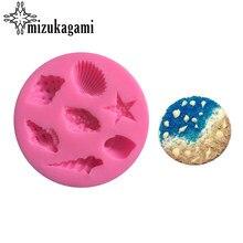 Moldes de resina UV para decorar joyas, moldes de silicona líquida para abalorios de conchas, estrellas de mar, bricolaje, 1 Uds.