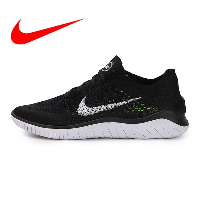 809024a5a1b US $94.86 49% OFF|Original Nike Free Rn Flyknit 5.0 Men's Running  Shoes,Black,Non slip Lightweight Breathable,Outdoor Sneakers Shoes Size40  44-in ...