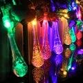 20 Gota de Agua LED Solar Powered Luces LED String de Hadas de Luz para el Festival Del Banquete de Boda de Navidad Decoración de Interior y Exterior